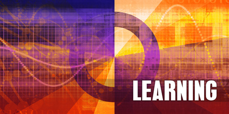 Learning Focus Concept on a Futuristic Abstract Background Lizenzfreie Bilder