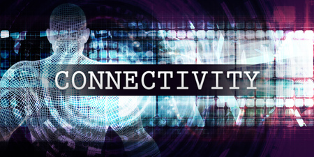 Connectivity Industry with Futuristic Business Tech Background Lizenzfreie Bilder