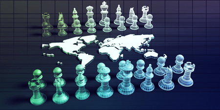 Strategic Marketing Concept with Chess Pieces on a Chessboard