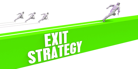 Exit Strategy as a Fast Track To Success Lizenzfreie Bilder