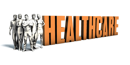 immediate: Business People Team Focusing on Improving Healthcare as a Concept Stock Photo