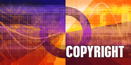 Copyright Focus Concept on a Futuristic Abstract Background 版權商用圖片
