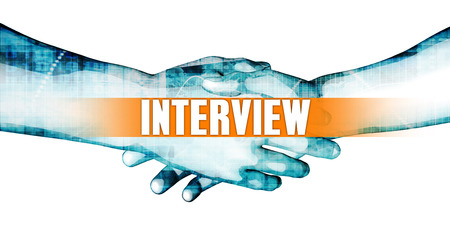 affiliation: Interview Concept with Businessmen Handshake on White Background
