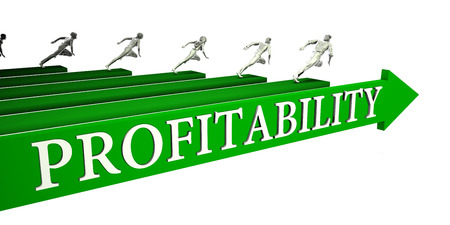 Profitability Opportunities as a Business Concept Art Stock Photo