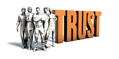 Business People Team Focusing on Improving Trust as a Concept Stock Photo