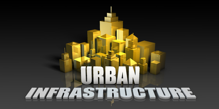 Urban Infrastructure Industry Business Concept with Buildings Background