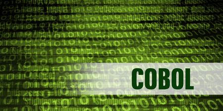 Cobol Coding Language with Green Binary Background