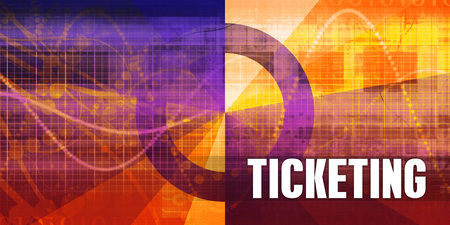 Ticketing Focus Concept on a Futuristic Abstract Background