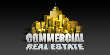 Commercial Real Estate Industry Business Concept with Buildings Background