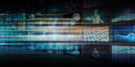 Digital Revolution and Disruptive Technology on the Horizon Stock Photo