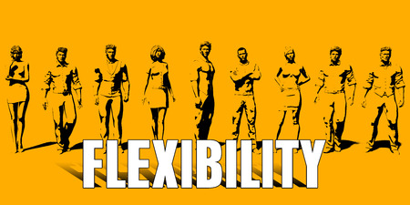 Flexibility Concept With Business Professionals Standing in a Row