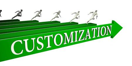 Customization Opportunities as a Business Concept Art Stock Photo