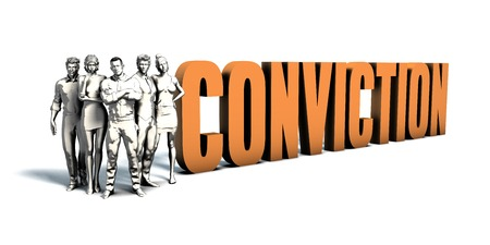 Business People Team Focusing on Improving Conviction as a Concept