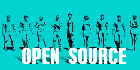 open source Focus with Business People United Art