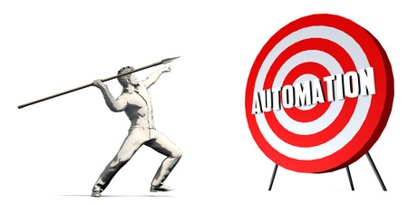 Aiming For Automation with Bullseye Target on White