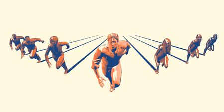 Head Start in Business as an Advantage in Race