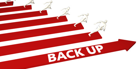 Backup Information and Presentation Concept for Business Foto de archivo