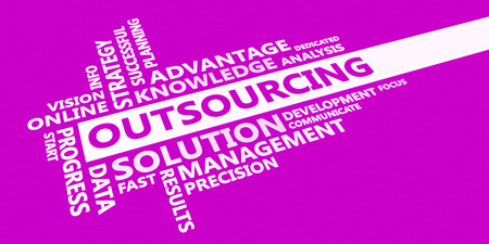 Outsourcing Business Idea as an Abstract Concept Stock Photo