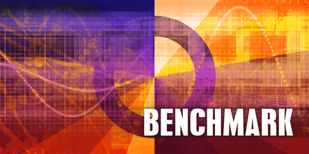 Benchmark Focus Concept on a Futuristic Abstract Background Stock Photo
