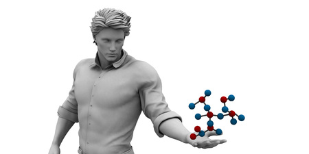 Molecule Structure in 3D as a Presentation Background