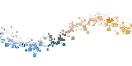 Business Analytics Software Cube as a Tech Concept Stok Fotoğraf