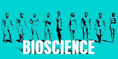 Bioscience Focus with Business People United Art