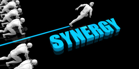 Superior Synergy Concept with Competitive Advantage Standard-Bild