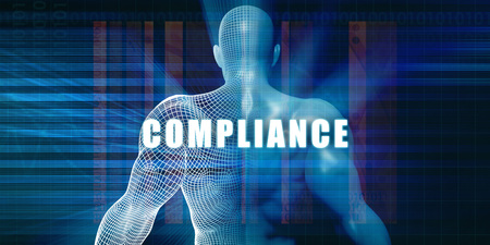 Compliance as a Futuristic Concept Abstract Background Standard-Bild
