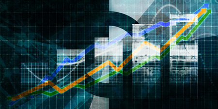 Digital Marketing Abstract Background with Business Chart