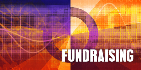 Fundraising Focus Concept on a Futuristic Abstract Background Standard-Bild