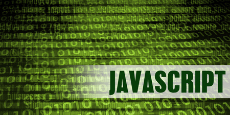 Javascript Coding Language with Green Binary Background Standard-Bild