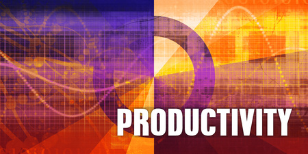 Productivity Focus Concept on a Futuristic Abstract Background Standard-Bild