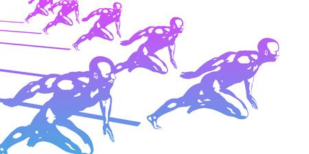 Sports Technology Abstract Concept Background as Art Standard-Bild