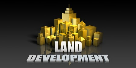 Land Development Industry Business Concept with Buildings Background
