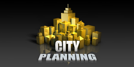 City Planning Industry Business Concept with Buildings Background