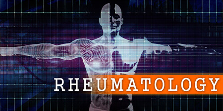 Rheumatology Medical Industry with Human Body Scan Concept