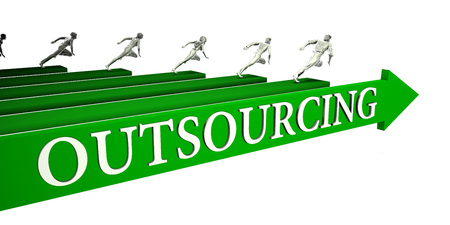 Outsourcing Opportunities as a Business Concept Art Stock Photo