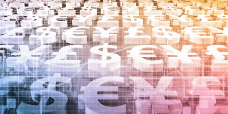Online Stock Trading and Forex Market Concept Standard-Bild