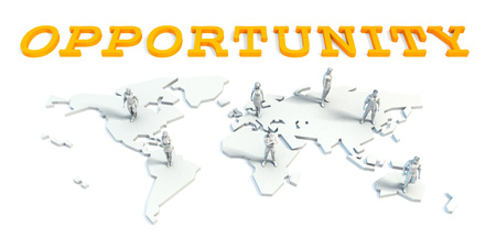 Opportunity Concept with a Global Business Team Standard-Bild