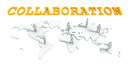 Collaboration Concept with a Global Business Team