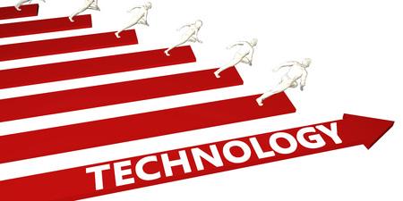 Technology Information and Presentation Concept for Business Standard-Bild