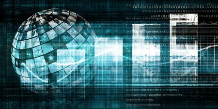 Digital Technology Concept as a Virtual Background Standard-Bild