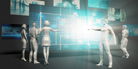 Internet Connnection Concept with Virtual Presentation Background Standard-Bild