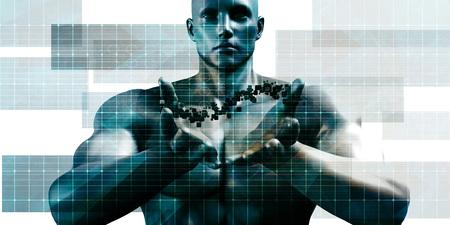 Futuristic Digital Network with Data Communication Art