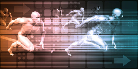 Sports Background and Physical Combat as Abstract Standard-Bild