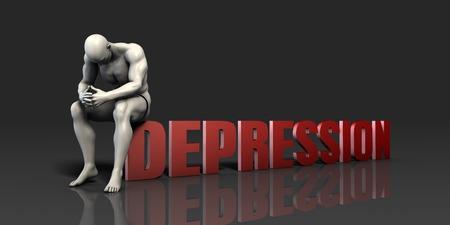 Man Facing Depression and Needing Help or Aid Standard-Bild