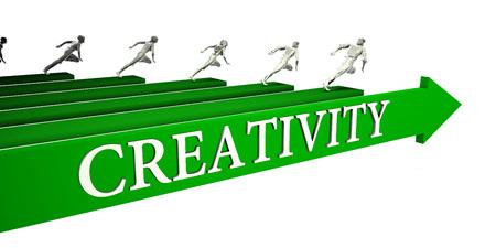 Creativity Opportunities as a Business Concept Art Standard-Bild