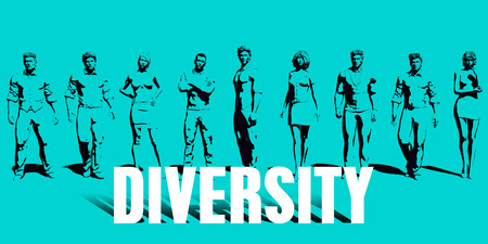 Diversity Focus with Business People United Art
