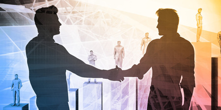 Business Collaboration with two Businessmen Shaking Hands