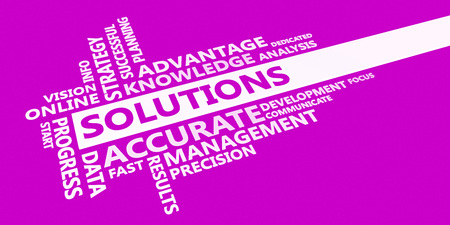 Solutions Business Idea as an Abstract Concept Stock Photo
